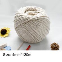 3mm/4mm/5mm/6mm/8mm Natural Cotton Ropes DIY Macrame Cord Wall Hanging Plant Hanger Craft Making Knitting Rope Home Decoration