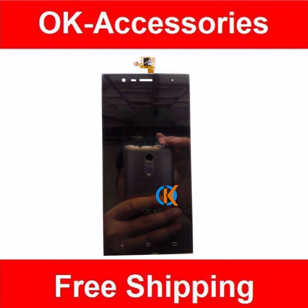 Black Color Replacement For Highscreen Boost 3 LCD Display Touch Screen Digitizer Assembly 1PC Lot AAA