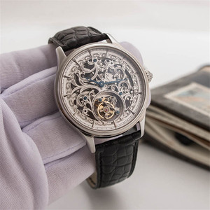 Image 4 - Voller Skelett Mechanische Uhren Männer der ST8000K Tourbillon bewegung Männer Armbanduhr Krokodil Lederband saphir Uhr
