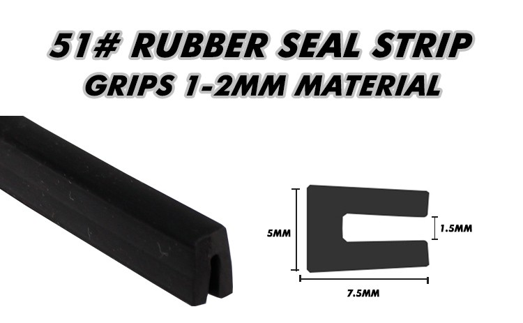 "Black U Pillar 157"" 400cm Channel Car Truck Weatherstrip Flexible Edge Strip Seal Exterior Interior Lock Seal 7.5x5mm #51"