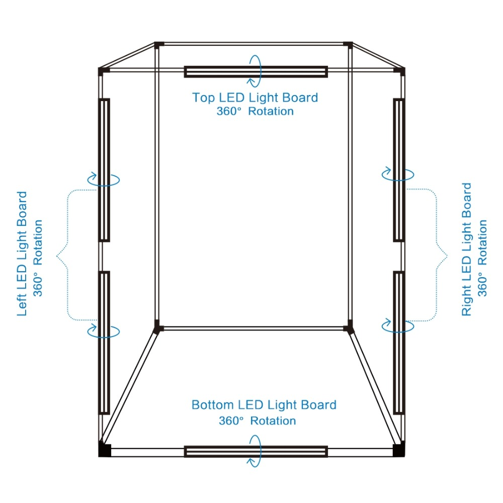 Color : Color2 US Plug 200cm Studio Box 6 Light Strip Bars 240W 5500K White Light Photo Lighting Shooting Tent Kit for Clothes//Adult Model Portrait Photo Studio Shooting Box