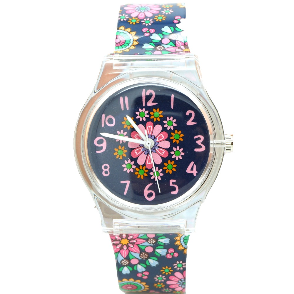 Willis Watch For Women Water Resistant Sports Wristwatch Fashion Flower Print Gift For Kids Nice Design Watches new electronic willis women mini water resistant watch fashion for children watch