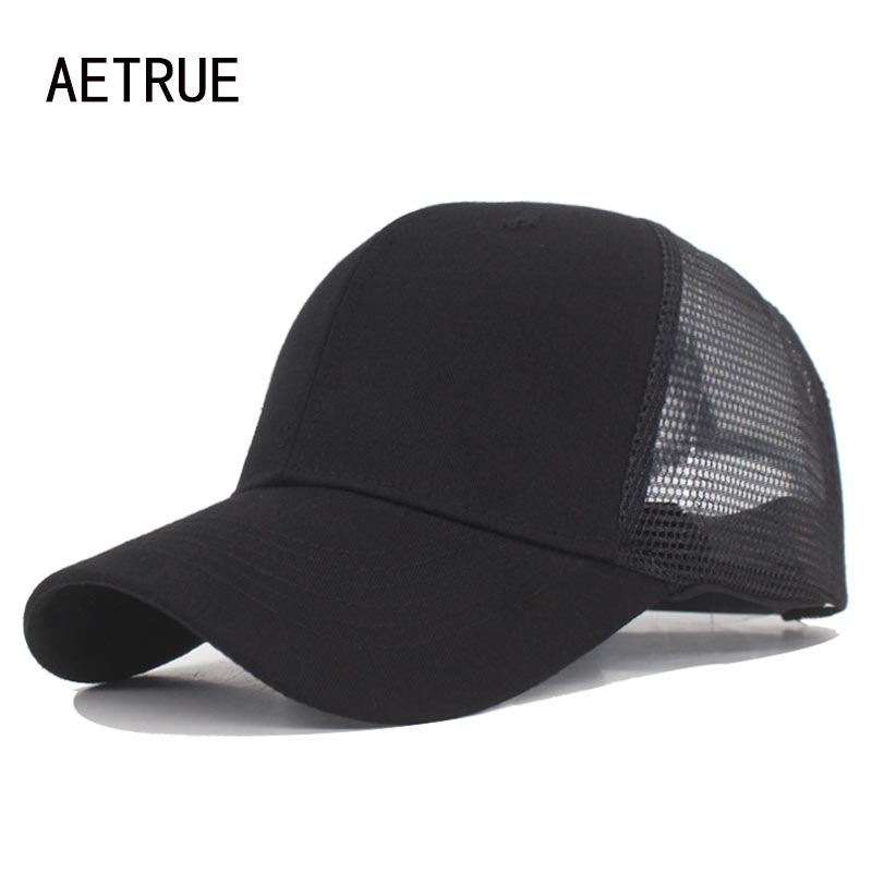 AETRUE Fashion Baseball Cap Men Snapback Caps Mesh Bone Women Hats For Men Casquette Gorras Solid Hip Hop Dad Baseball Hat Cap