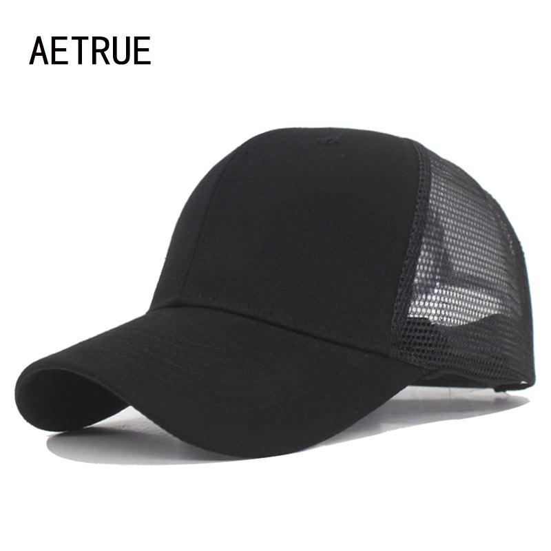 AETRUE Fashion Baseball Cap Men Snapback Caps Mesh Bone Women Hats For Men Casquette Gorras Solid Hip Hop Dad Baseball Hat Cap