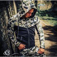 Mężczyźni bluza hot Muscle man Slim zipper jesień zima płaszcz z kapturem męska fitness odzież bluzki czopiarki ciała krzyż nadające hoody