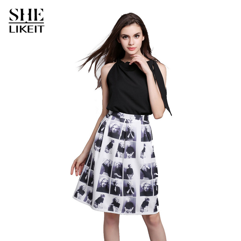 Amazing Women39s Print Blouse And Drawstring Waist Maxi Skirt Set