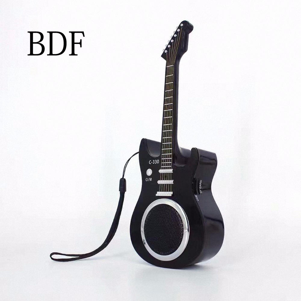 bdf mini guitar portable mini bluetooth speaker c330 stereo music sound box mp3 subwoofer. Black Bedroom Furniture Sets. Home Design Ideas