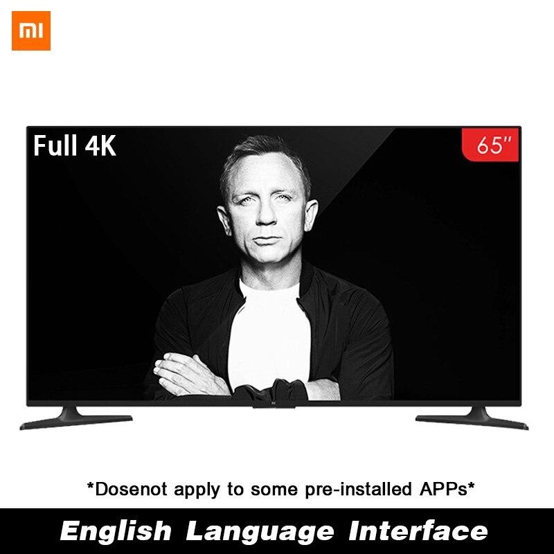 Xiaomi inteligente 4A 65 pulgadas 3840*2160 FHD de 4K HD televisor de pantalla HDMI WIFI Ultra-delgada de 2GB de Ram 8GB Rom juego de Dolby Europa mantel con diseño de flores blanco hueco encaje algodón Lino tela de mesa a prueba de polvo boda banquete TV gabinete cubierta tela