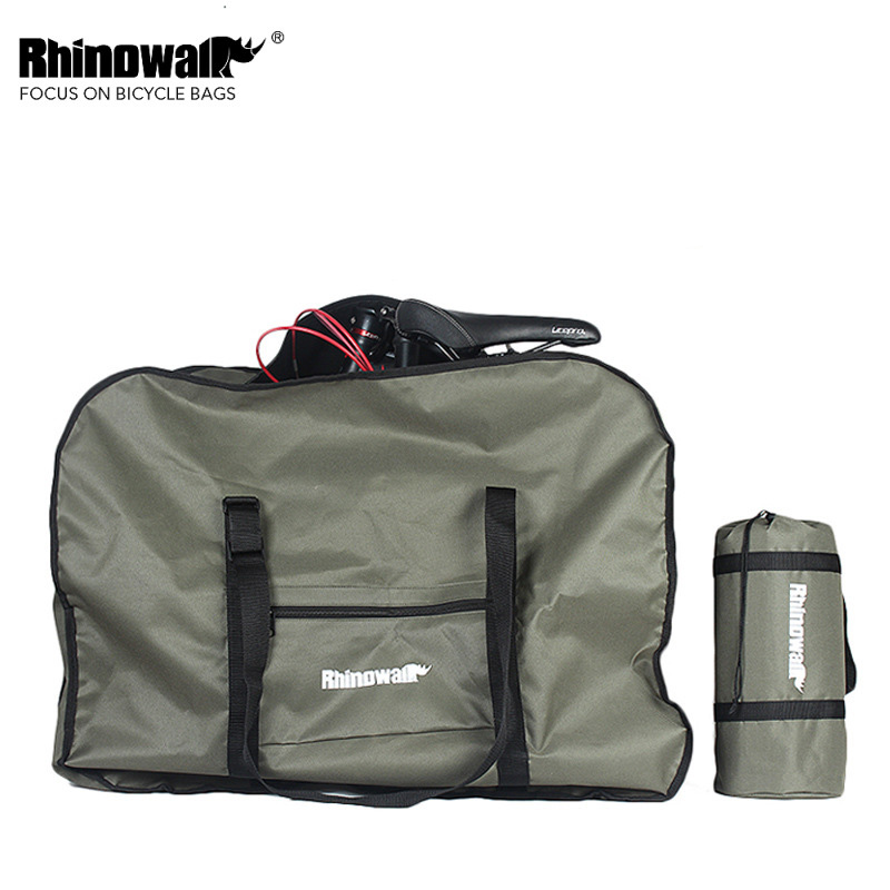 Rhinowalk 20 inch Folding Bike Bag Loading Vehicle Carrying Bag Packed Car Thickened Portable Bicycle Transport Storage Bag Pack z50 cree l2 flashlight torch lamp self defense led flash light powerful tactical emergency defensive torch 1battery 1charger