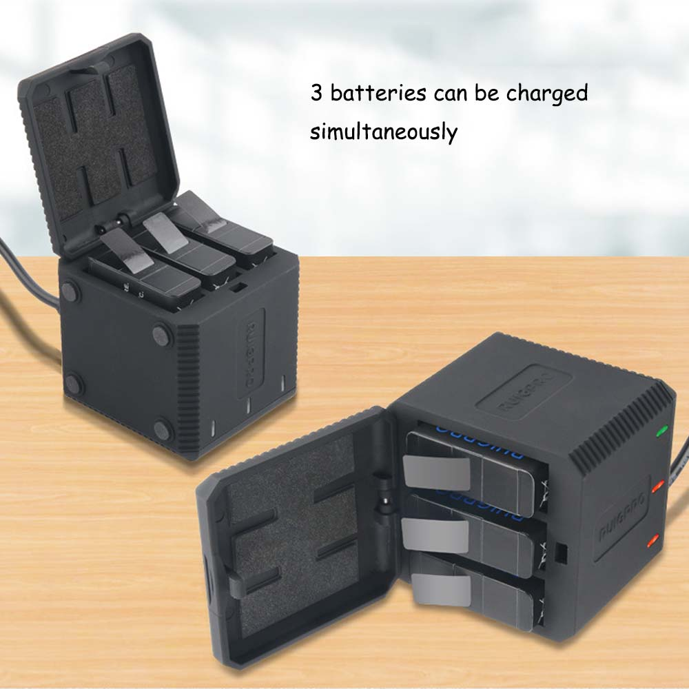 E3633-3 Slot Battery Charger for Gopro6-3