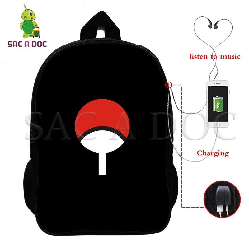 Naruto Multifunction Backpack Uchiha Sasuke Naruto USB Charging School Bags for Teens Women Men Laptop Backpack Travel BagsNaruto Multifunction Backpack Uchiha Sasuke Naruto USB Charging School Bags for Teens Women Men Laptop Backpack Travel Bags
