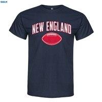 GILDAN New England Footballer Adult Mens 100 Cotton Short Sleeve Print Men Summer T Shirt Sleeves