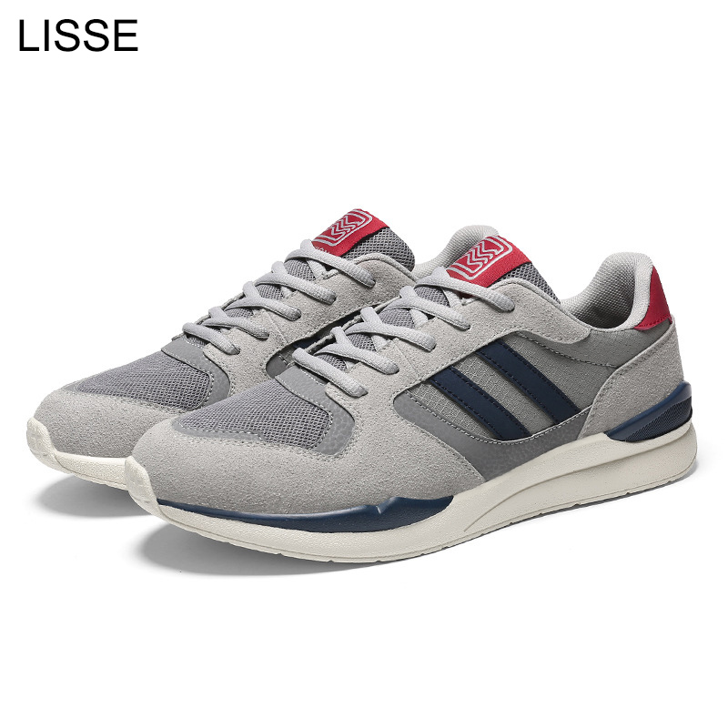 LISSE Men's casual shoes spring autumn breathable men's low help mesh flat shoes sneakers Zapatillas men's fashion shoes men