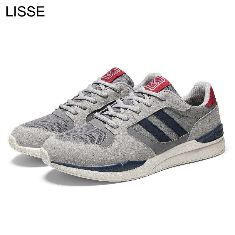 LISSE Men's casual shoes spring autumn breathable men's low help mesh flat shoes sneakers Zapatillas men's fashion shoes men