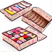 2015 Cute design Home storage supply Underwear Organizer Closet Drawer Storage Box For Socks Ties Bra Lingerie Organiser