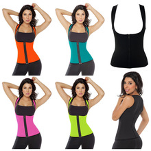 Women 5XL plus size sports tights outdoor fitness body shaper waist trainer sports both sides corset girly Sleeveless tank top