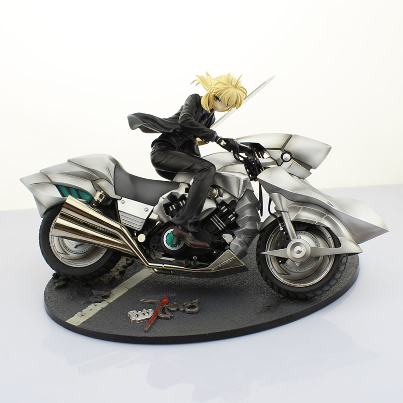 Free Shipping 6 Fate Stay Night FSN Anime Saber Suit Motor Ver. Boxed 16cm PVC Action Figure Collection Model Doll Toys Gift alen new hot fate stay night racing girl black blue white saber throne pajamas action figure toys collection christmas gift doll