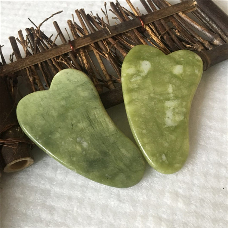 Natural Jade Scraping Board Facial Massager Acupuncture Pressure Therapy Scraper Health Care Beauty Massage Tool For Face