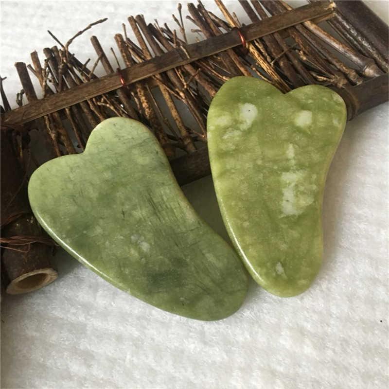 Prancheta de jade natural para raspar, massageador facial, para terapia de pressão e raspagem, ferramenta de massagem, para cuidados de saúde