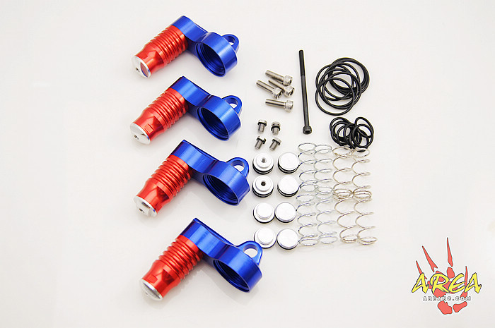 Area RC Adjustable Antihunting Splitting Shock Reservoirs FOR LOSI 5IVE-T area rc rear hub carrier for losi 5t 5ive t