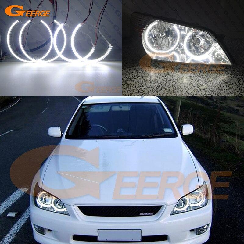 Для Тойота altezza SXE10 Гита (Япония) отлично глаза ангела Сид Ультра яркое освещение Сид SMD глаза Ангела гало кольцо комплект