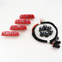 A STYLE Car Door Warning Light Cable Plug Harness Clips For VW Jetta MK5 Golf 5
