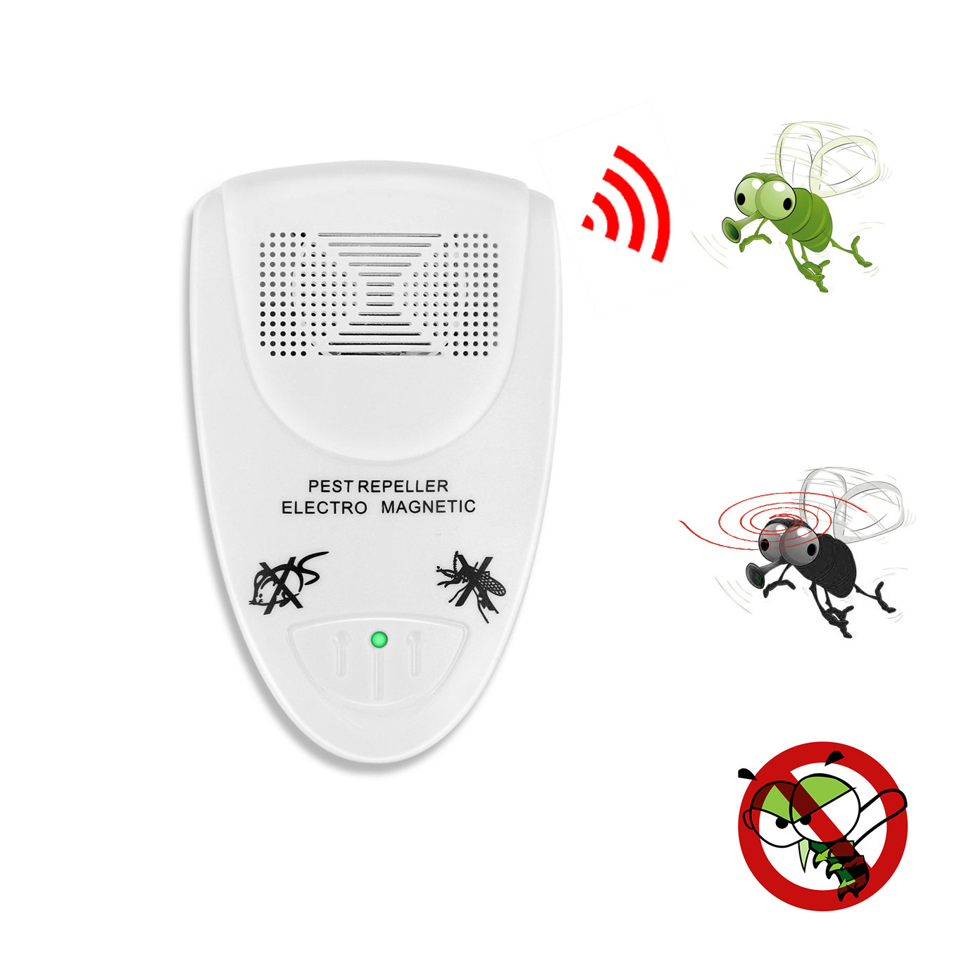 2019  Ultrasonic Electronic Indoor Anti Mosquito Rat Mice Pest Bug Control Repeller convenient and  practical HOT Sale product-in Repellents from Home & Garden