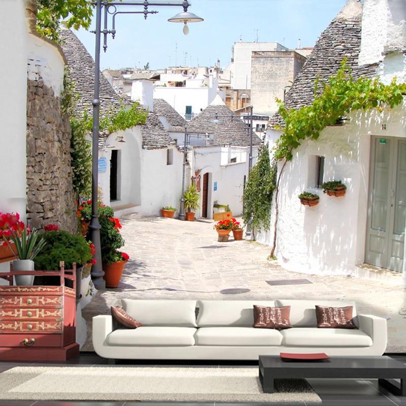 Custom 3D Photo Wallpaper European Style Town Streets Large Mural Wallpaper  Living Room Sofa Bedroom Wall Part 60