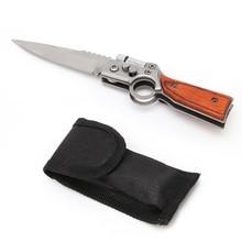 OOTDTY AK47 карманный тактический складной нож в форме пистолета, карманный нож для выживания, охоты, кемпинга, светодиодный, Новинка