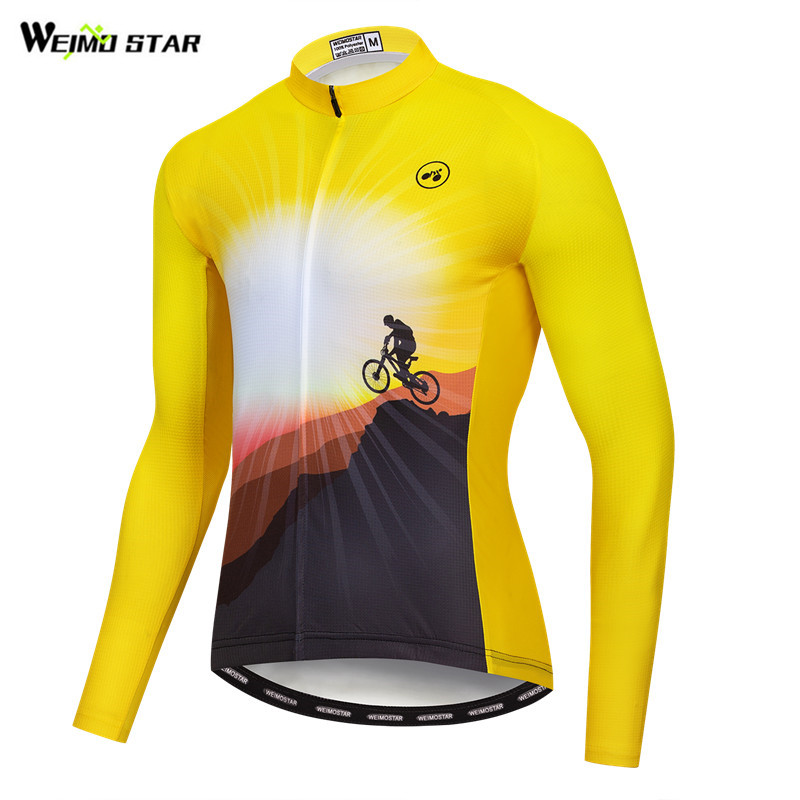 Weimostar 2019 pro team Cycling Jersey Long Sleeve Men Autumn Breathable Cycling Clothing Maillot Ciclismo Road MTB Bike JerseyWeimostar 2019 pro team Cycling Jersey Long Sleeve Men Autumn Breathable Cycling Clothing Maillot Ciclismo Road MTB Bike Jersey