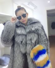 2016 new products – autumn and winter luxury leather fox fur coat