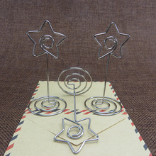 Vey Cool Star Shaped Metal Seat Card Holders