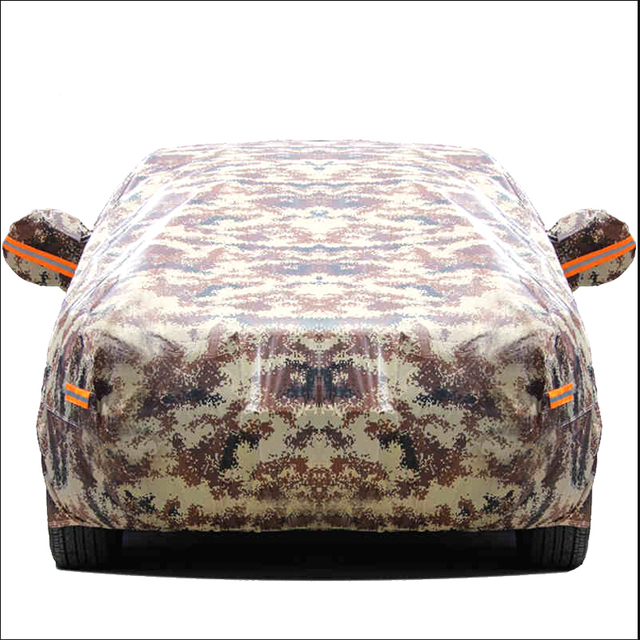 Camouflage car cover waterproof Dustproof Waterproof Rain UV prevention of thievery Covering car set raincoat  reflectance 1 pc