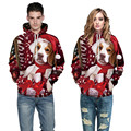 2017 famous brand hot sale plus size S-3XL mens women fashion 3D christmas cute dog baseball hoodies and sweatshirts