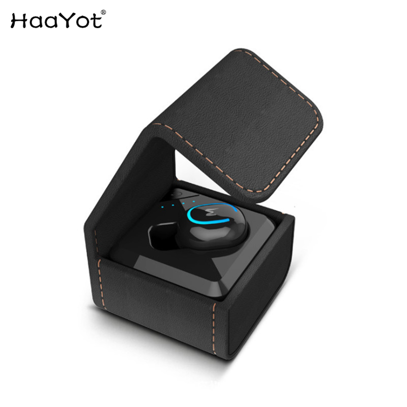 HAAYOT Mini Wireless Bluetooth 4 1 Earphones Invisible Single Bluetooth In ear Business Earbud With Battery