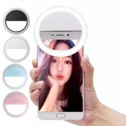 Красивый светодиодный светильник для селфи с камерой, фотографией, селфи-светильник для смартфона Xiaomi iPhone Sumsang, аккумулятор не входит в комп...
