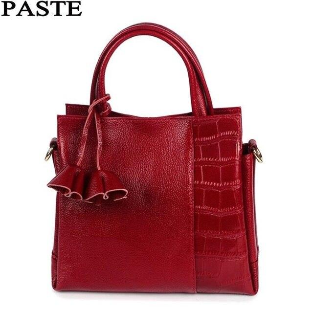 Paste Russia Style Women S Leather Handbags Brands Female Bag Fashion Messenger Crossbody Bags Genuine