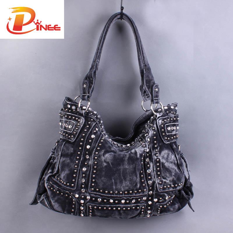 Vintage Design Fashion Denim Women Bag Jeans Shoulder Bags S Handbags Crossbody Messenger