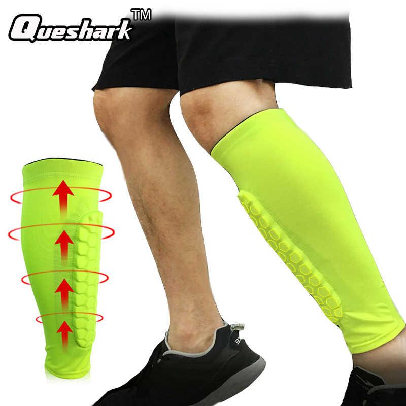 b0e69702c2 1Pcs Gym Sport Football Shin Guard Protector Soccer Honeycomb Anti-crash Leg  Calf Sleeve Compression