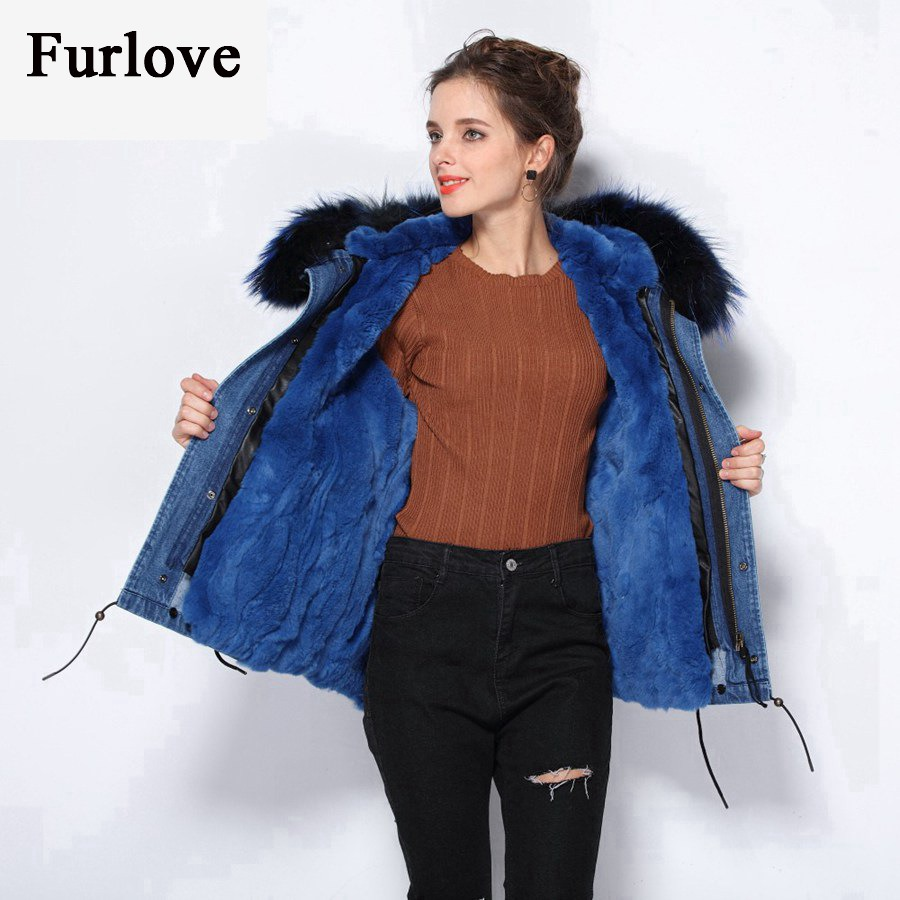 Women Winter Jacket 2017 Thick Warm Coat Parkas Real Raccoon Fur Collar Hooded Rabbit Fur Parka Plus Size womens denim jackets new parkas for women winter with fur coat 2017 gray blue red coats real raccoon fur collar parka thick warm hooded jacket womens