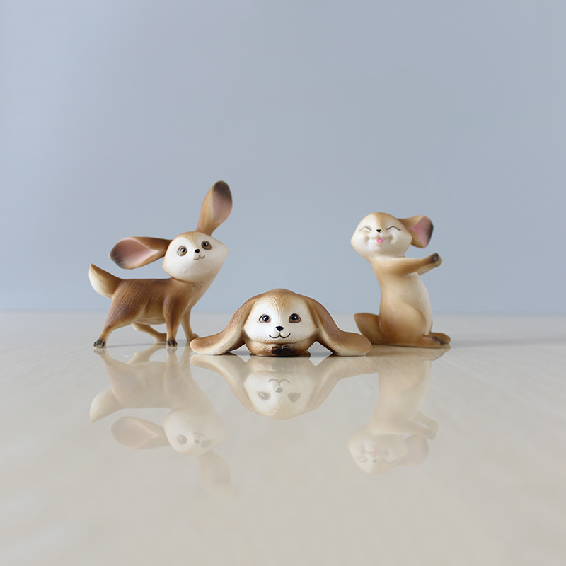 Lovely Rabbit Figurines Artware Resin Cute Bunny Figures Ornaments Doll  With Mushrooms Home Decoration 3 Pcs/set Free Shipping In Figurines U0026  Miniatures ...