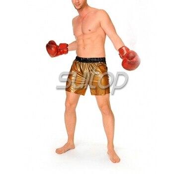 nature rubber latex boxer pants latex shorts