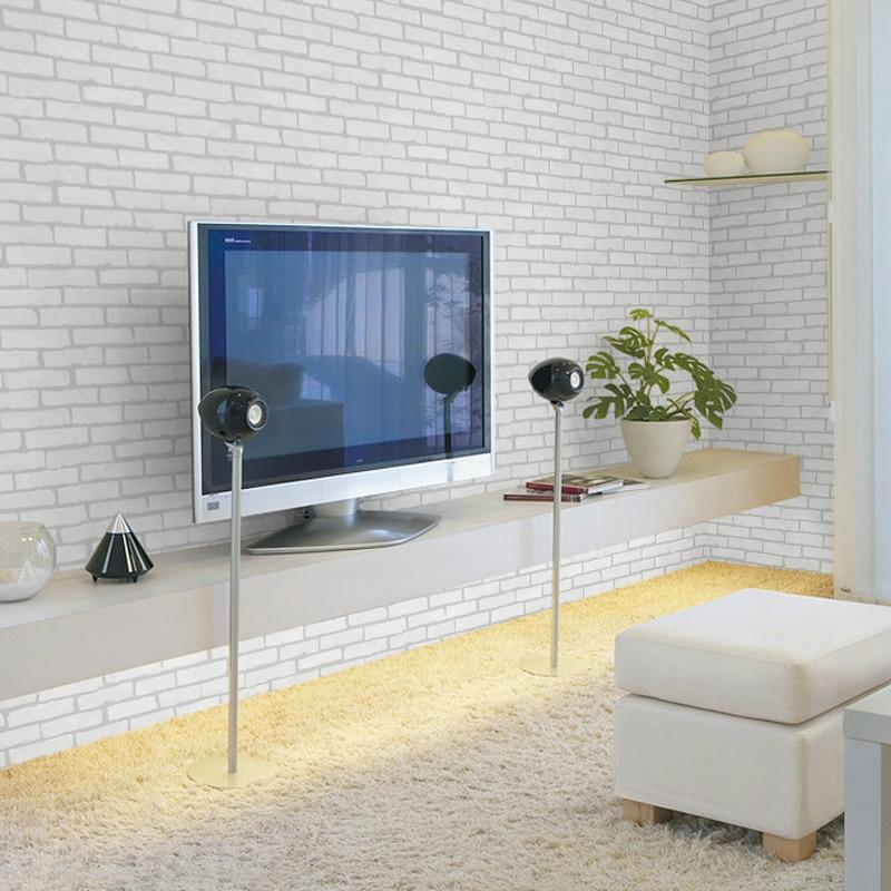 Купить с кэшбэком Chinese Style Living Room Kitchen Bathroom Waterproof Wall Sticker Home Decor Removable Vinyl PVC Brick Stone Wallpaper