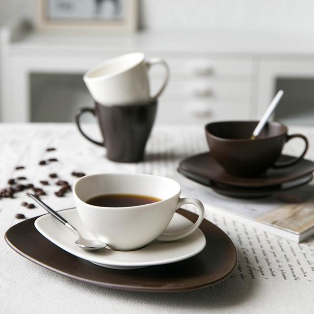 Modern ceramic tea series of European cup shaped housewife mug of