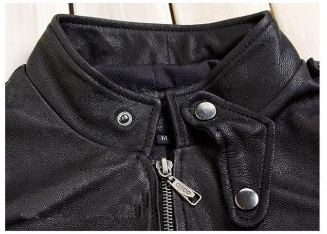 Женская мода M65 кожаная куртка с карманами черный овчины натуральной кожи пальто женщин slim fit мотоцикла леди