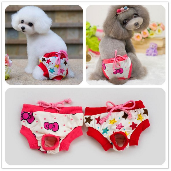 Wholesale 10pcs/lot dog pants top quality pet dog physiological pants S M Lsize 2 colors Physiological pants sanitary panties