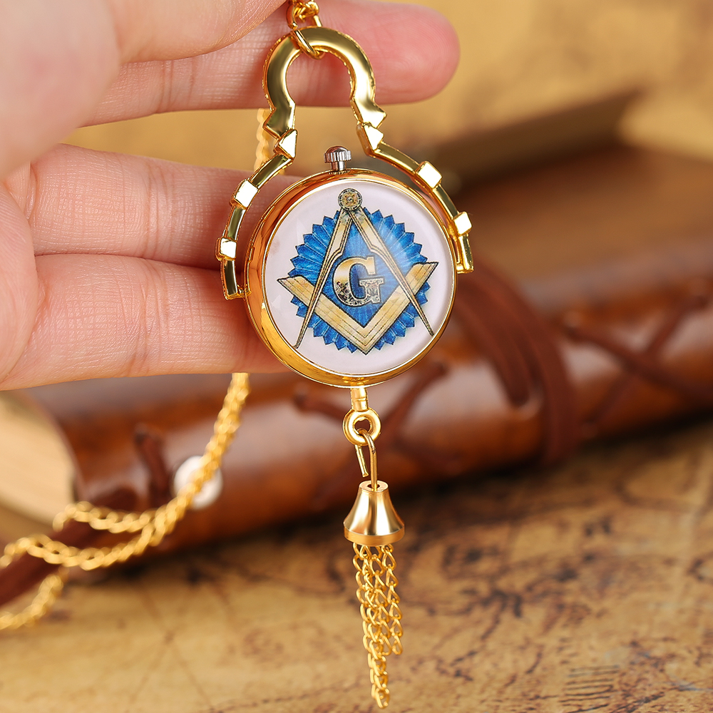 Black/Bronze Free-Mason Pocket Watch Vintage Ball Shape Pendant Chain Quartz Watches Fly Necklace Pendant Women Pocketwatch vintage cartoon camera shape sweater chain pocket watch pendant necklace korean style hot