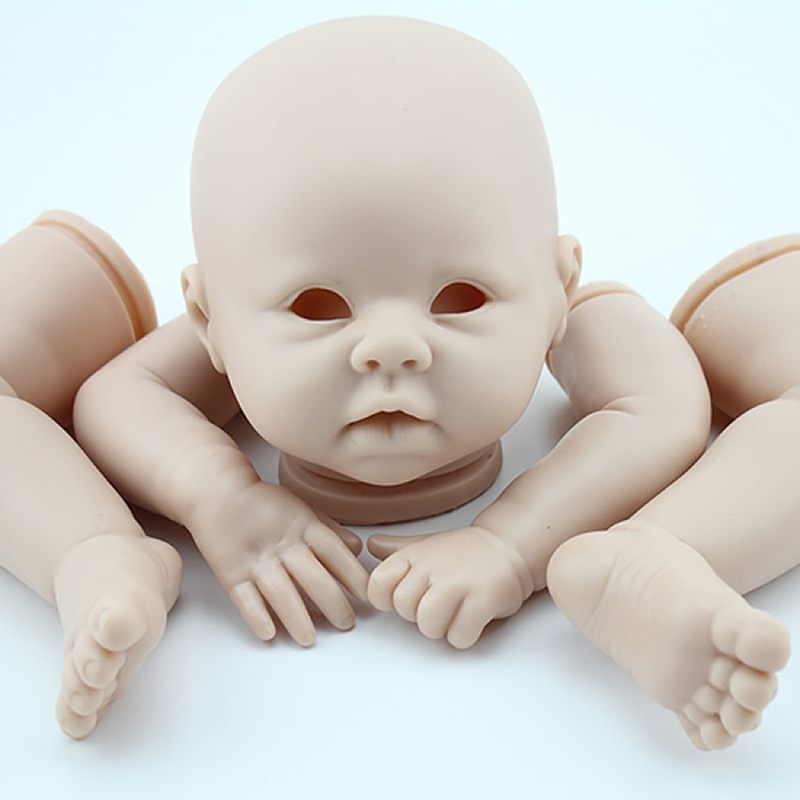 Reborn Baby Doll Kit Silicone Vinyl Head 3/4 Arms And Legs For 20-22 Baby Dolls Lifelike Doll Accessories reborn doll kits reborn lifelike baby dolls for children fashion dolls accessories reborn baby doll kit silicone vinyl