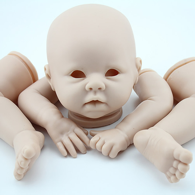 "Reborn Baby Doll Kit Silicone Vinyl Head 3/4 Arms And Legs For 20-22"" Baby Dolls Lifelike Doll Accessories"