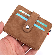 KANDRA Fashion Men Slim Leather Credit Card Holder Minimalist Card Case Sleeve Front Pocket ID Card Wallet High Quality